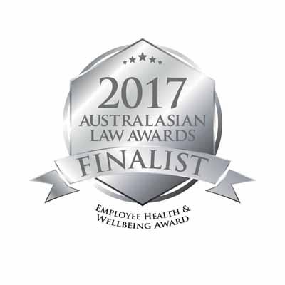 Finalist Australasian Law Award logo